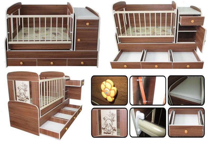 Современная детская кроватка 3 в 1