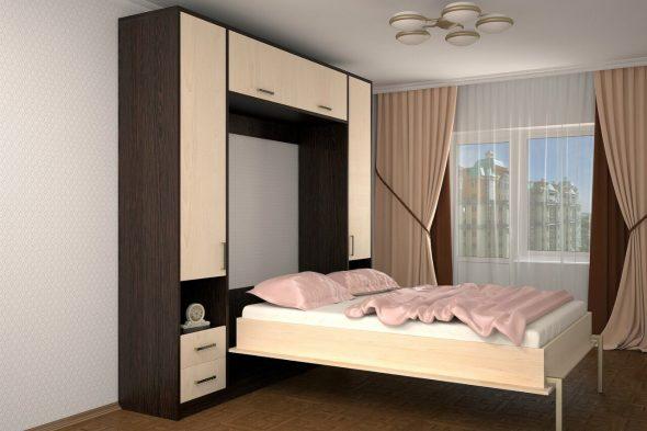 Современная подъемная кровать