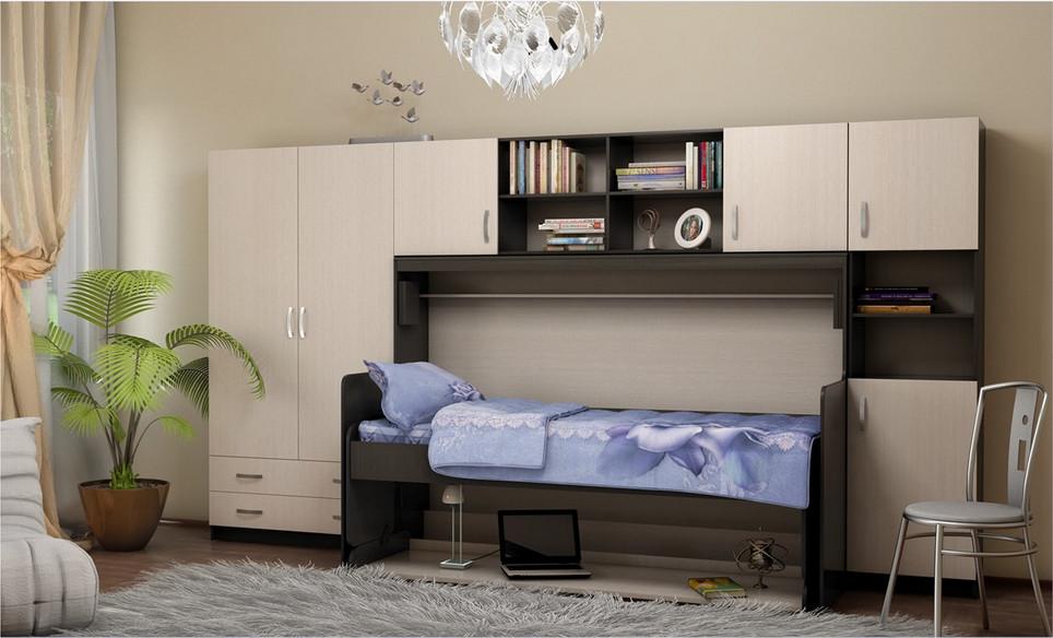 Стенка со спальным местом