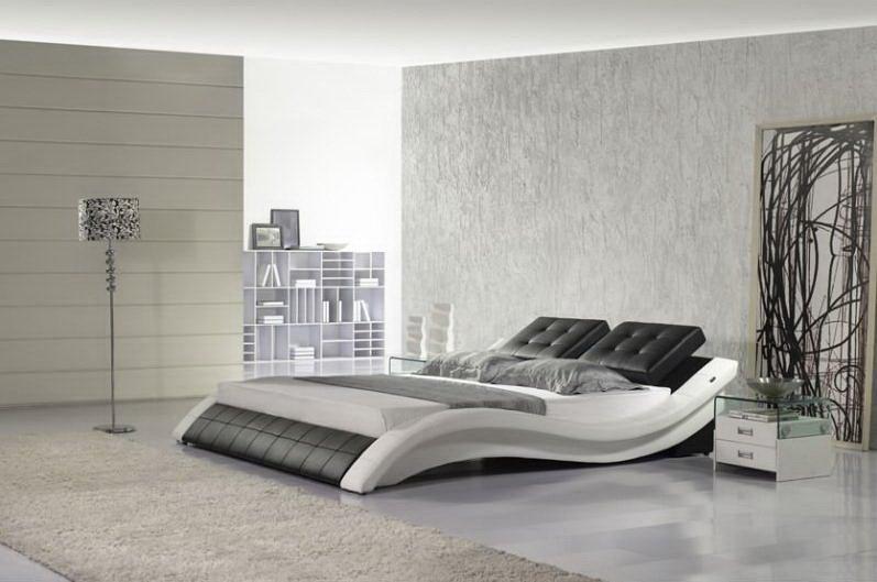 Стильные кожаные кровати – комфортный отдых в стиле люкс
