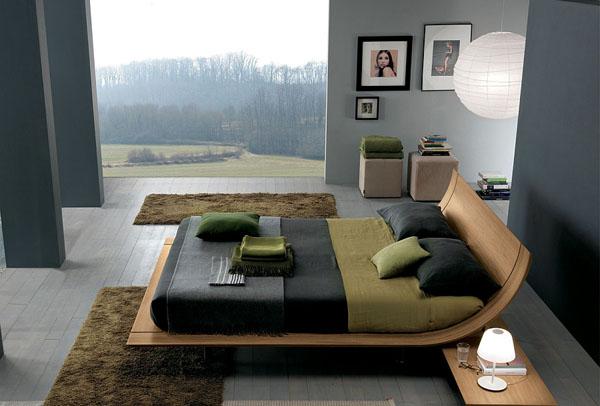 Стильные кровати в интерьере современной спальни