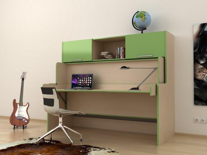 Стол-кровать трансформер зеленого цвета