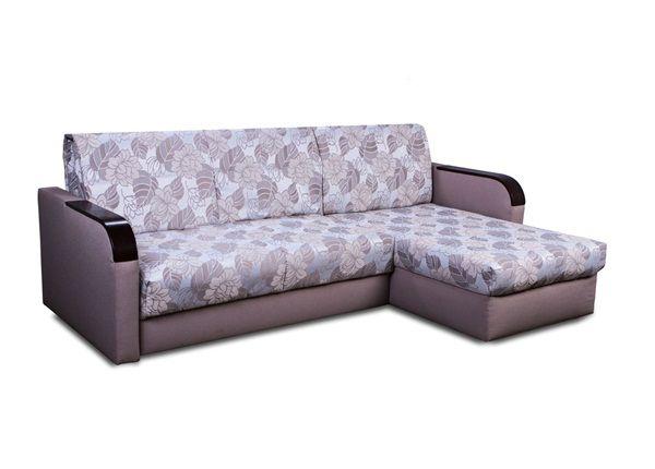 Угловой диван-кровать сиреневого цвета