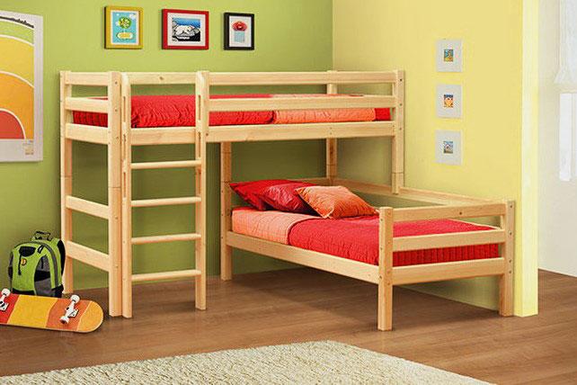Угловые двухъярусные кровати для детей