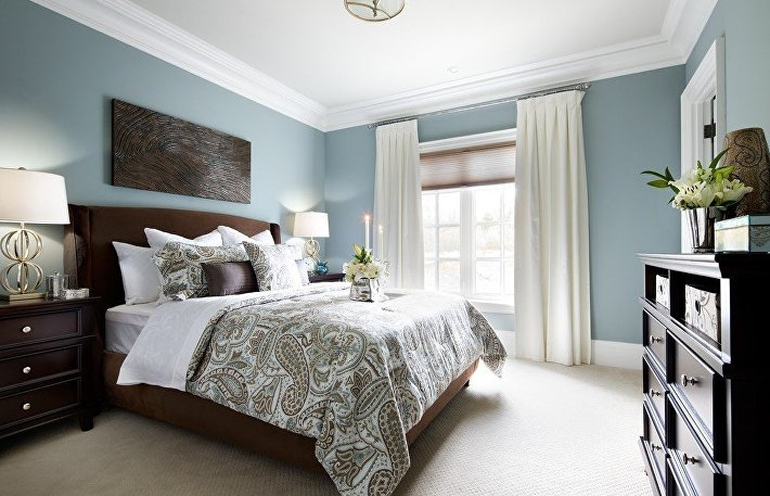 Уютное обустройство спальни