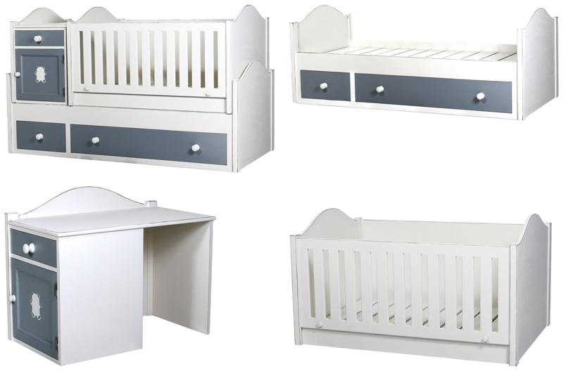 Варианты раскладки детской кроватки транформера