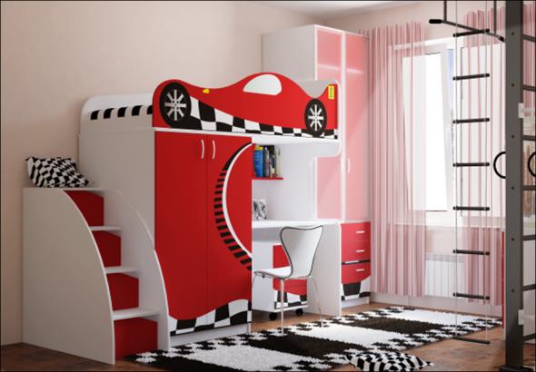 Выбираем кровать чердак с рабочей зоной для детской комнаты