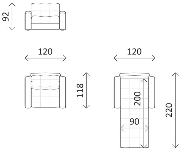 Выбор параметров мебели