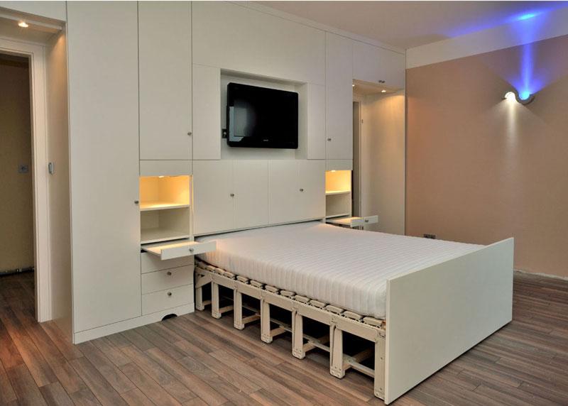 Выкатная кровать шкаф