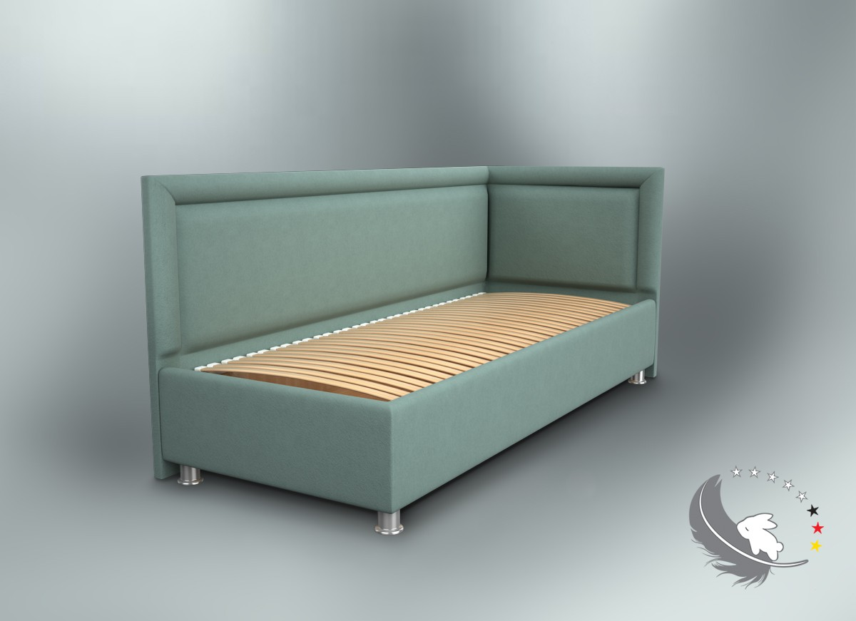 Высокие бортики подростковой угловой кровати