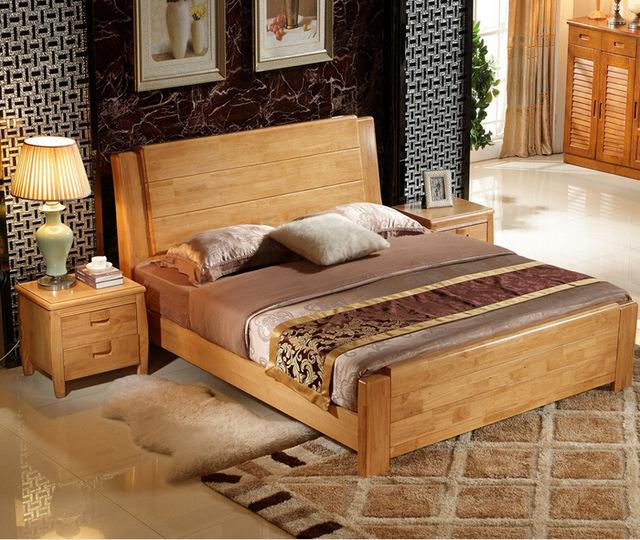 Высокое качество кровати из дуба