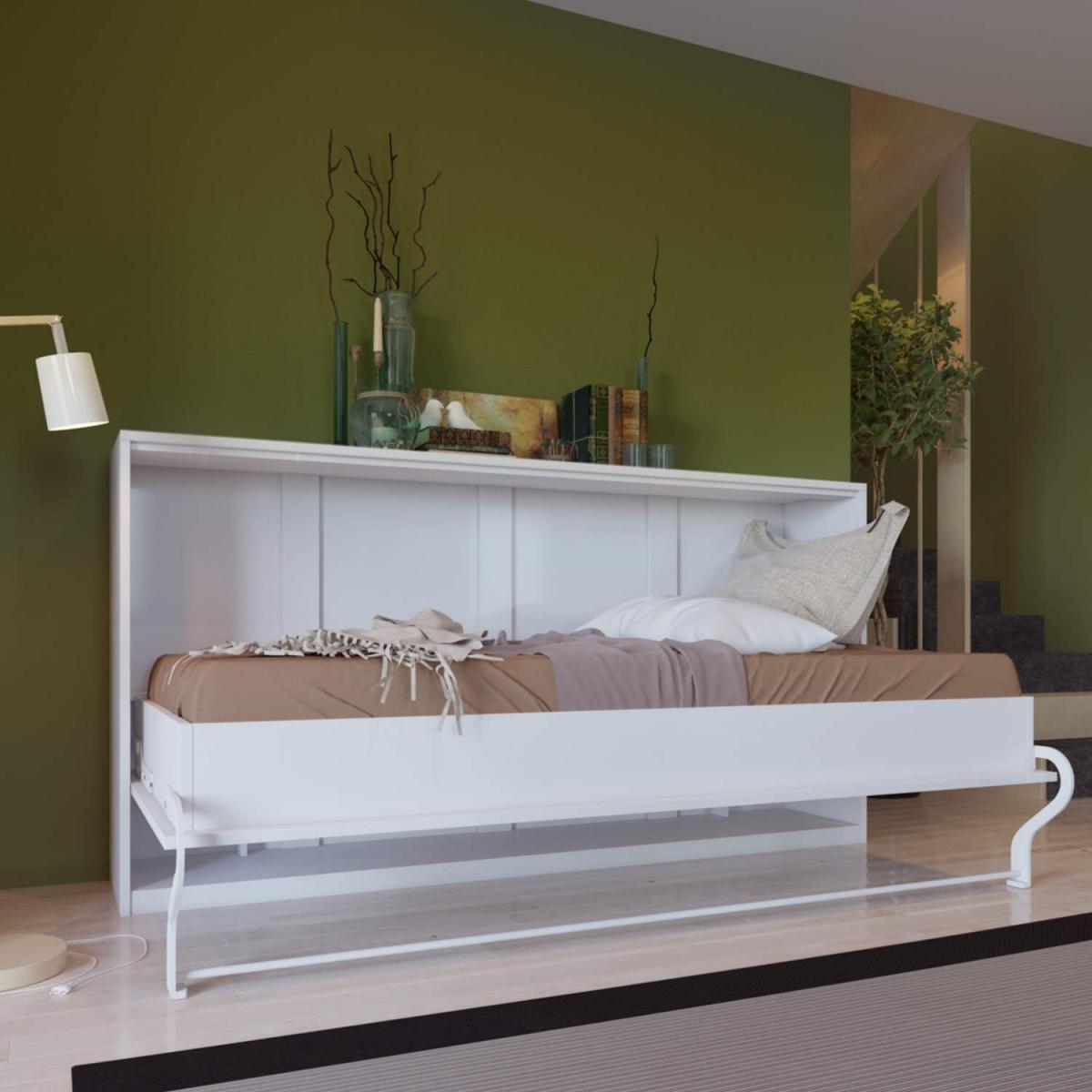 Белая кровать для гостиной