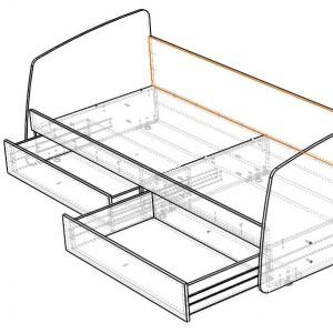 Чертёж деревянного каркаса кровати