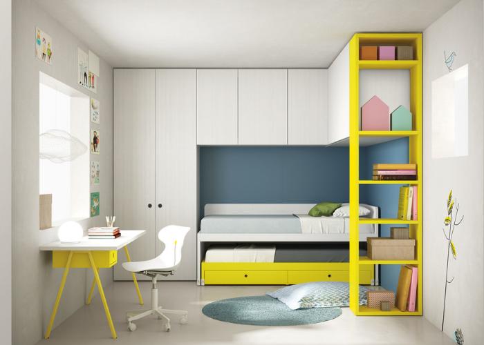 Детская комната с выдвижной кроватью