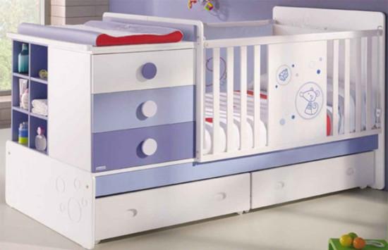 Детская кровать с местом для пеленания