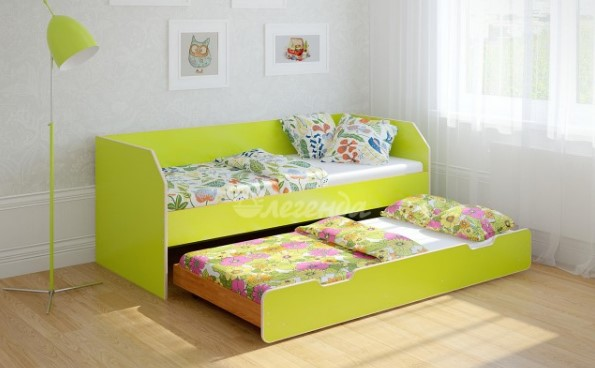 Детская выдвижная кровать для двоих или троих детей