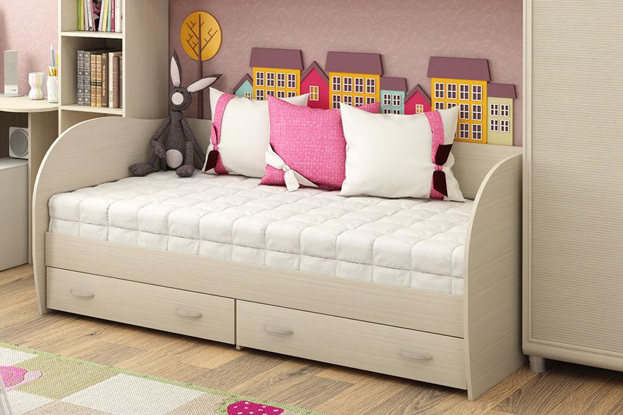 Детские кровати белого цвета