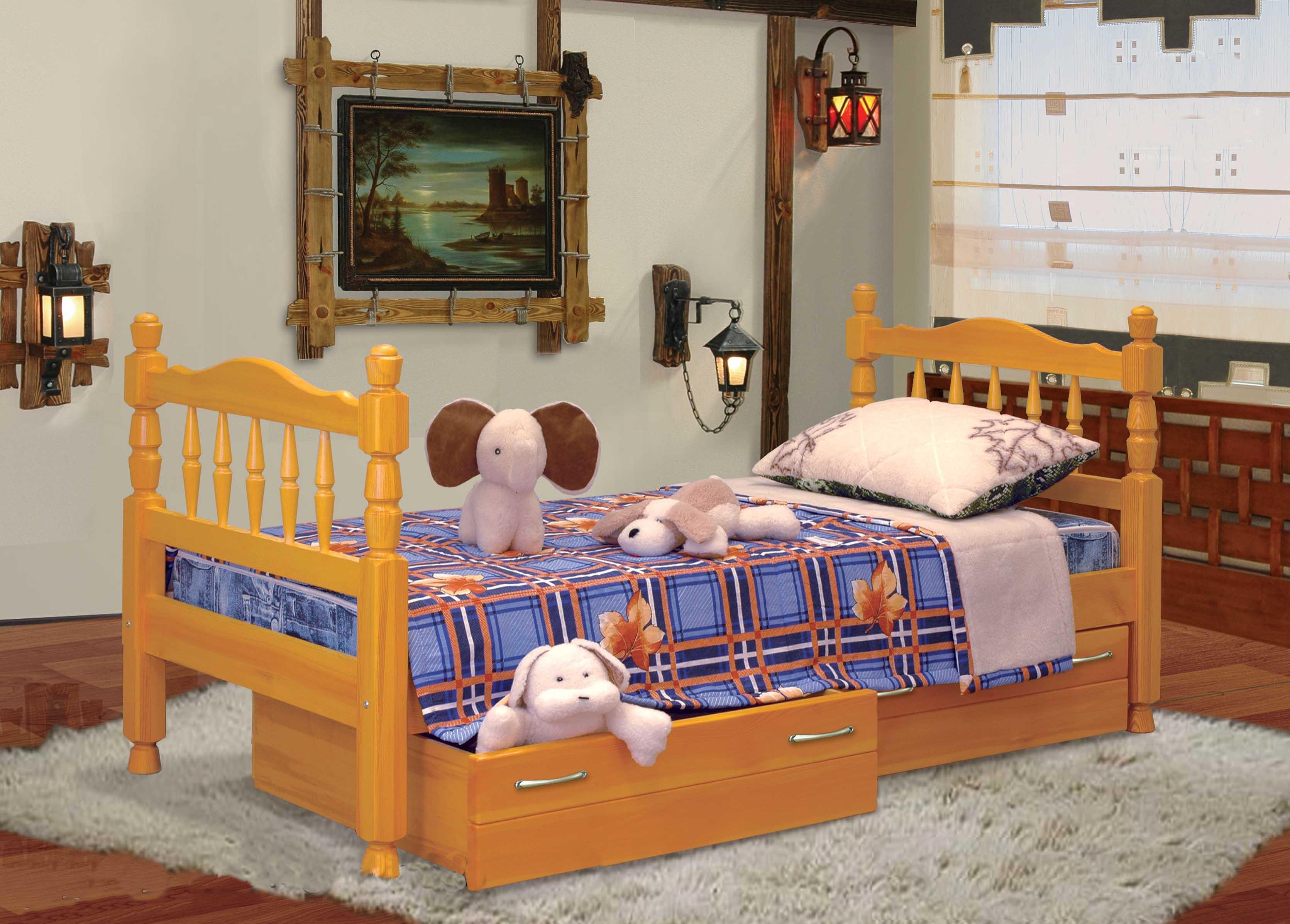 Детские кровати из массива дерева