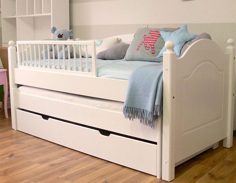 Детские выдвижные кровати для двоих детей