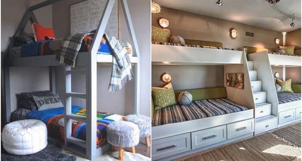 Двухъярусные детские кровати белого цвета