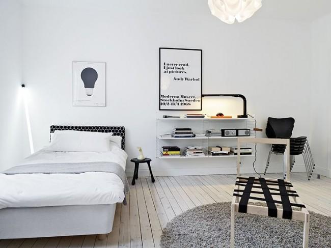 Гармоничное сочетание кровати и интерьера комнаты