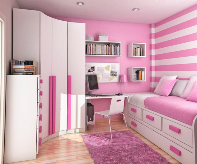 Как сделать комнату для девочки удобной