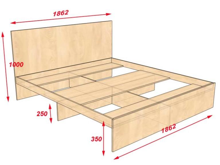 Как собирать кровать с ящиками в основании