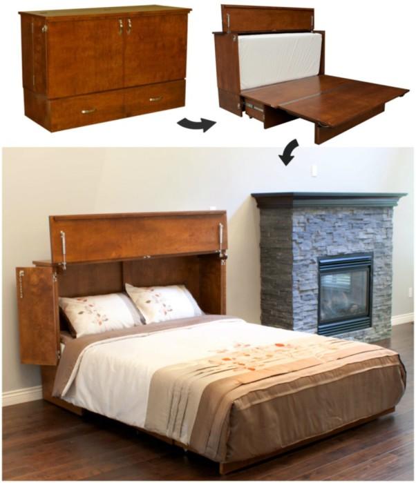 Комод-кровать трансформер в сдержанном английском стиле