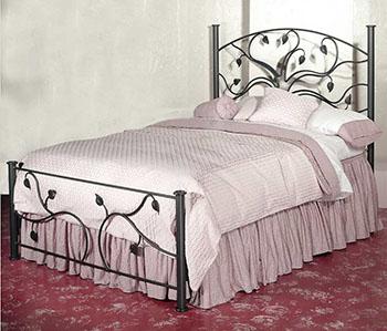 Кованые предметы мебели для сна с красивым оформлением