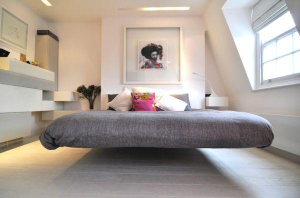 Красивая кровать в современном стиле