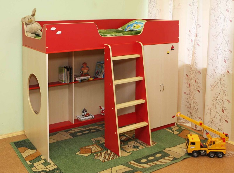 Красная мебель для сна ребенка