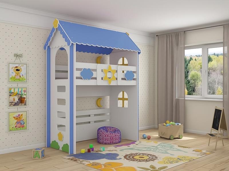 Кровать-домик с чердаком