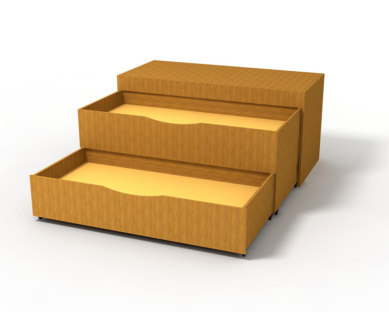 Кровать-комод детская
