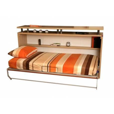 Кровать-комод с полками