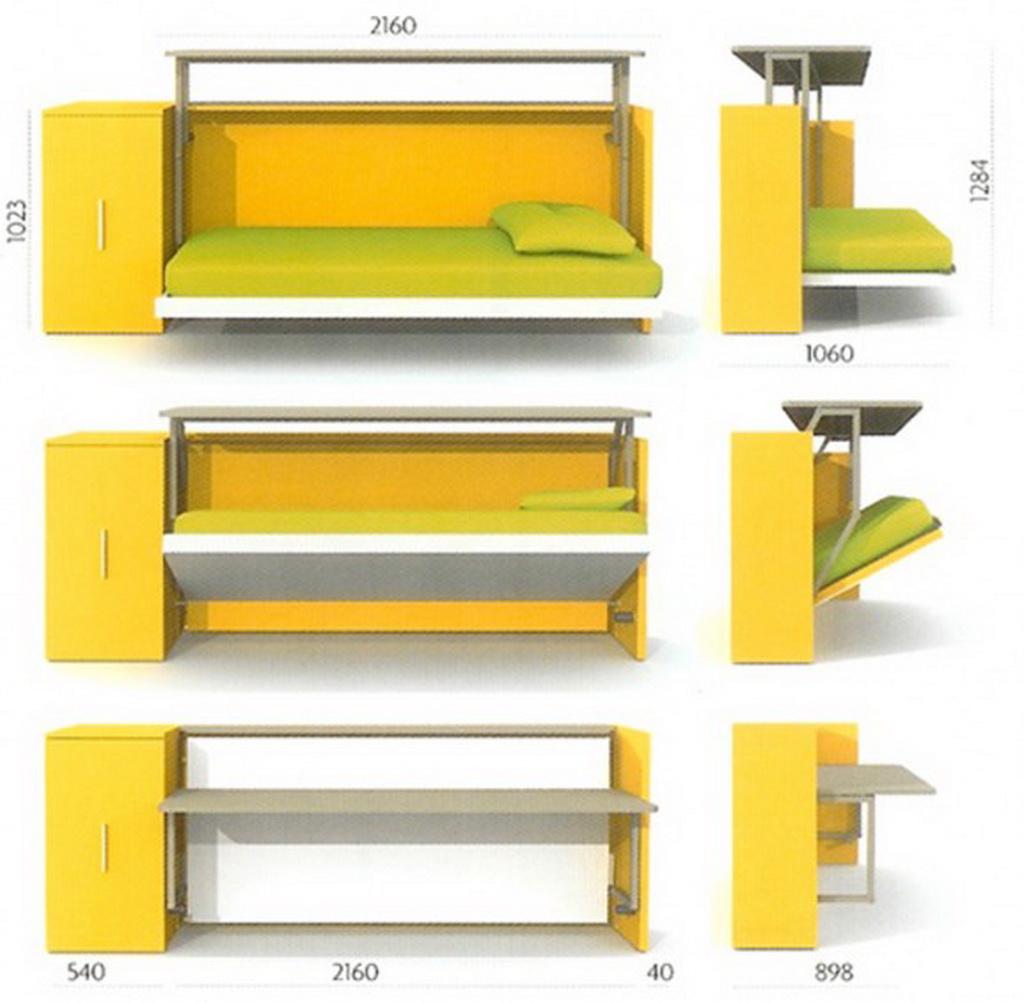 Кровать-комод-стол