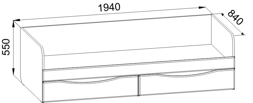 Кровать односпальная с ящиками и ее размеры