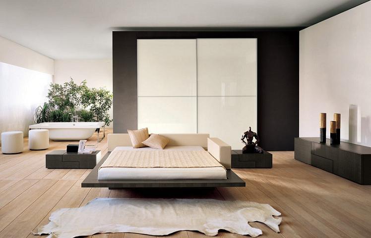 Кровать подиум в стиле хай-тек