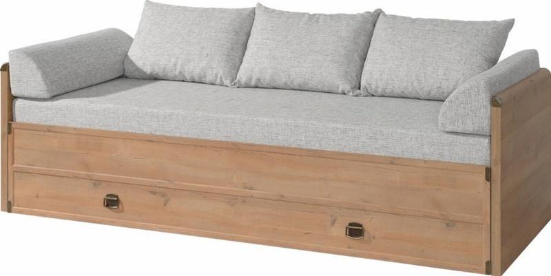 Кровать раздвижная с ящиками из дерева
