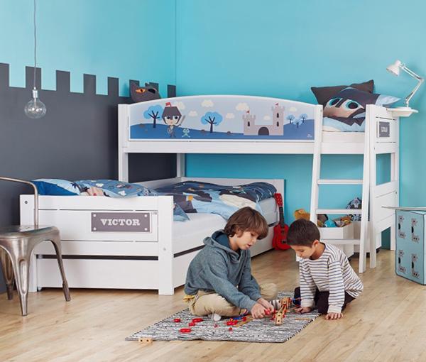 Кровати для двух однополых детей