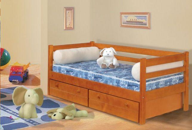Односпальная детская кровать с ящиками