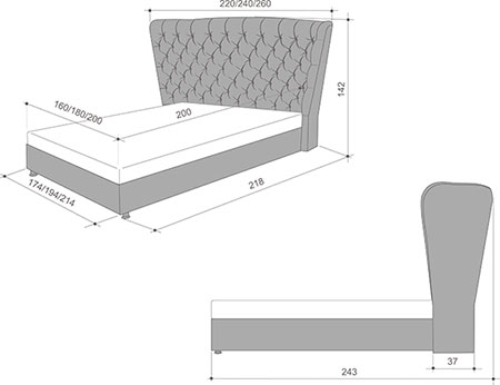 Определяем высоту кровати