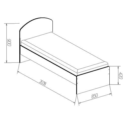 Параметры кровати для одного человека