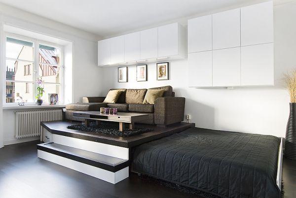 Потайная кровать с выдвижным механизмом