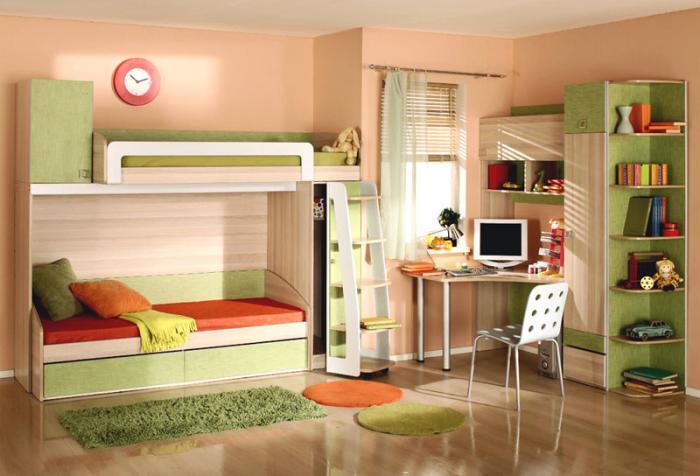 Пример эффектного дизайна комнаты ребенка