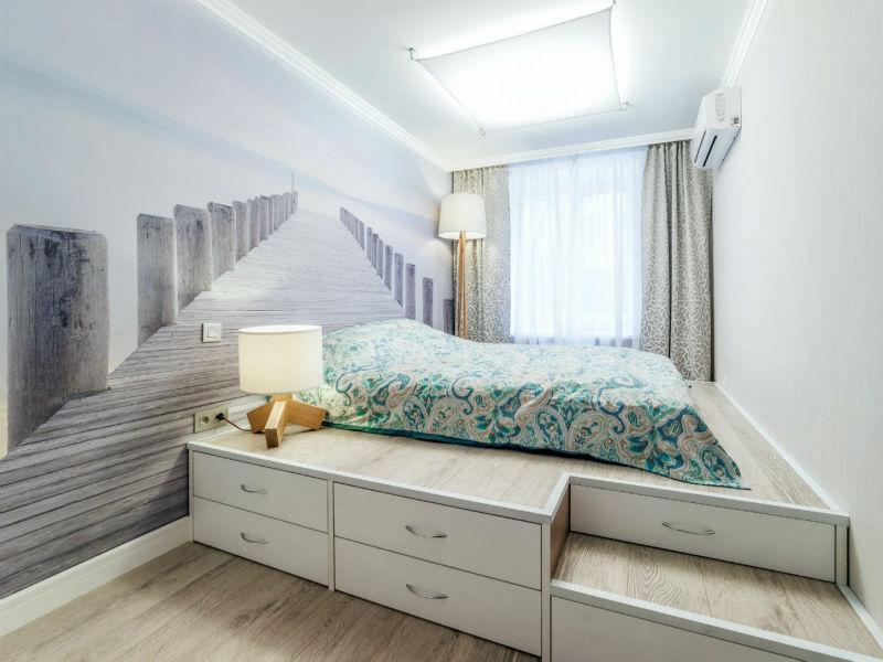 Пример эффектного оформления интерьера комнаты