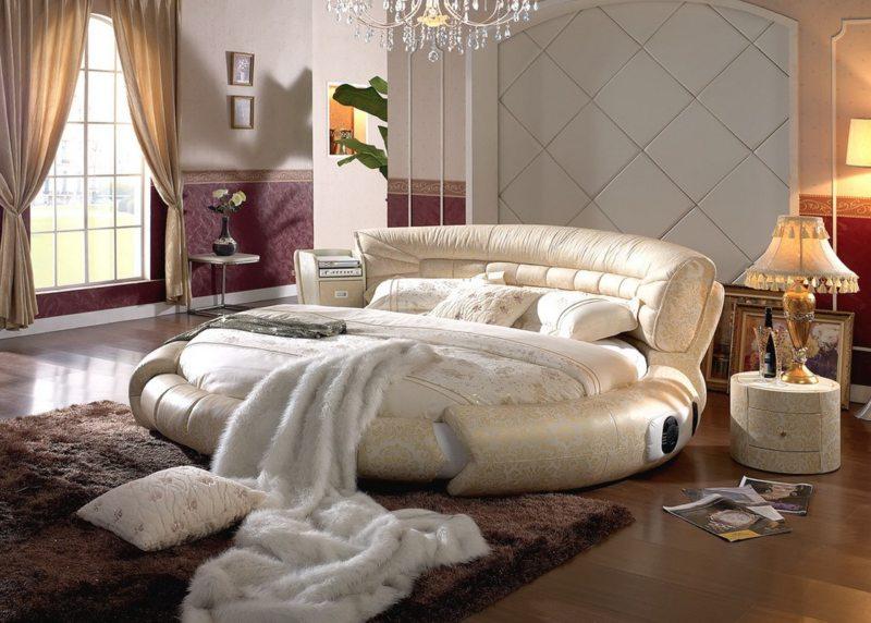 Пример круглой оригинальной мебели для сна