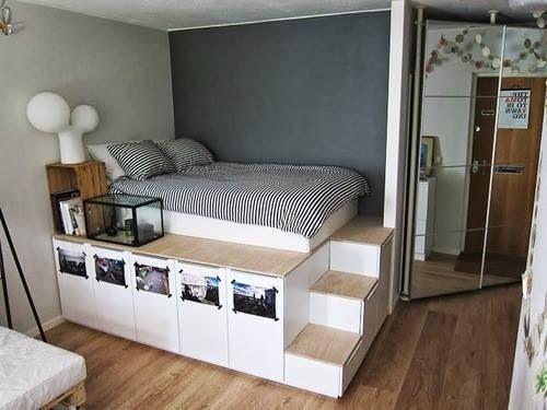 Пример обустройства небольшой спальни