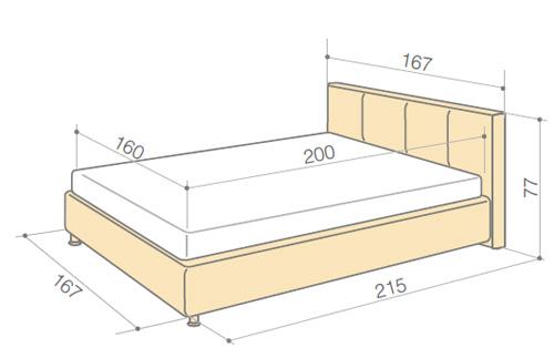 Пример размеров полуторной кровати для ребенка