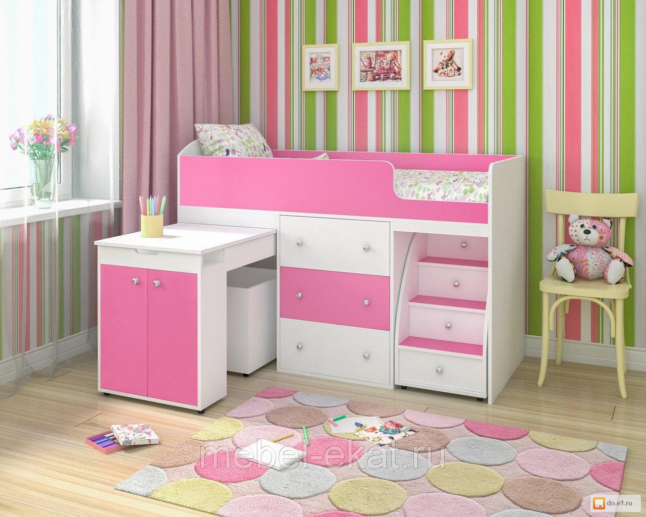 Приятные оттенки детской комнаты