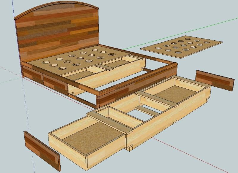 Проект двуспальной кровати